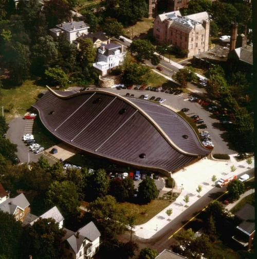 Aerial view of rink