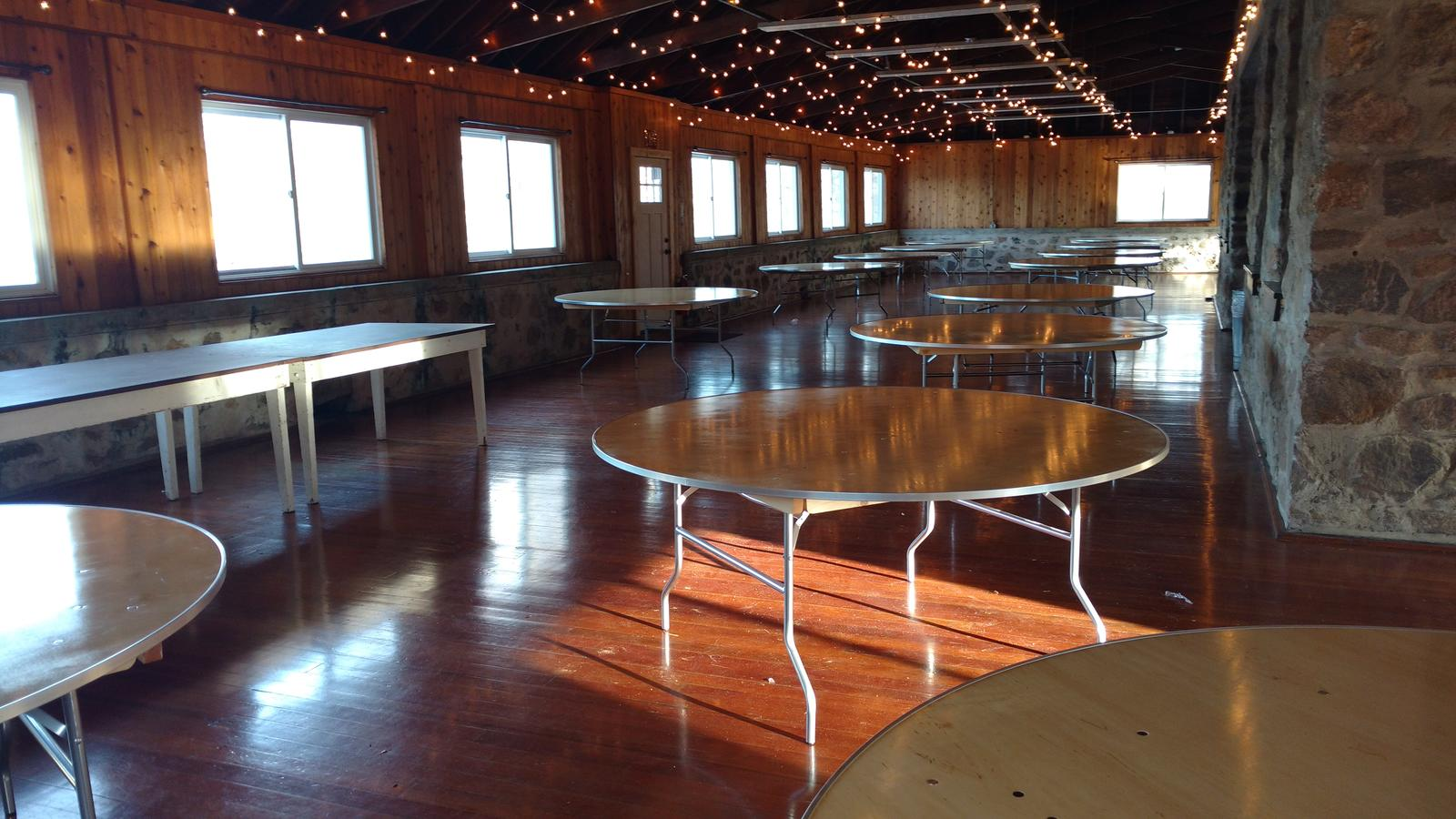 New banquet style tables in dining hall! Winter 2020