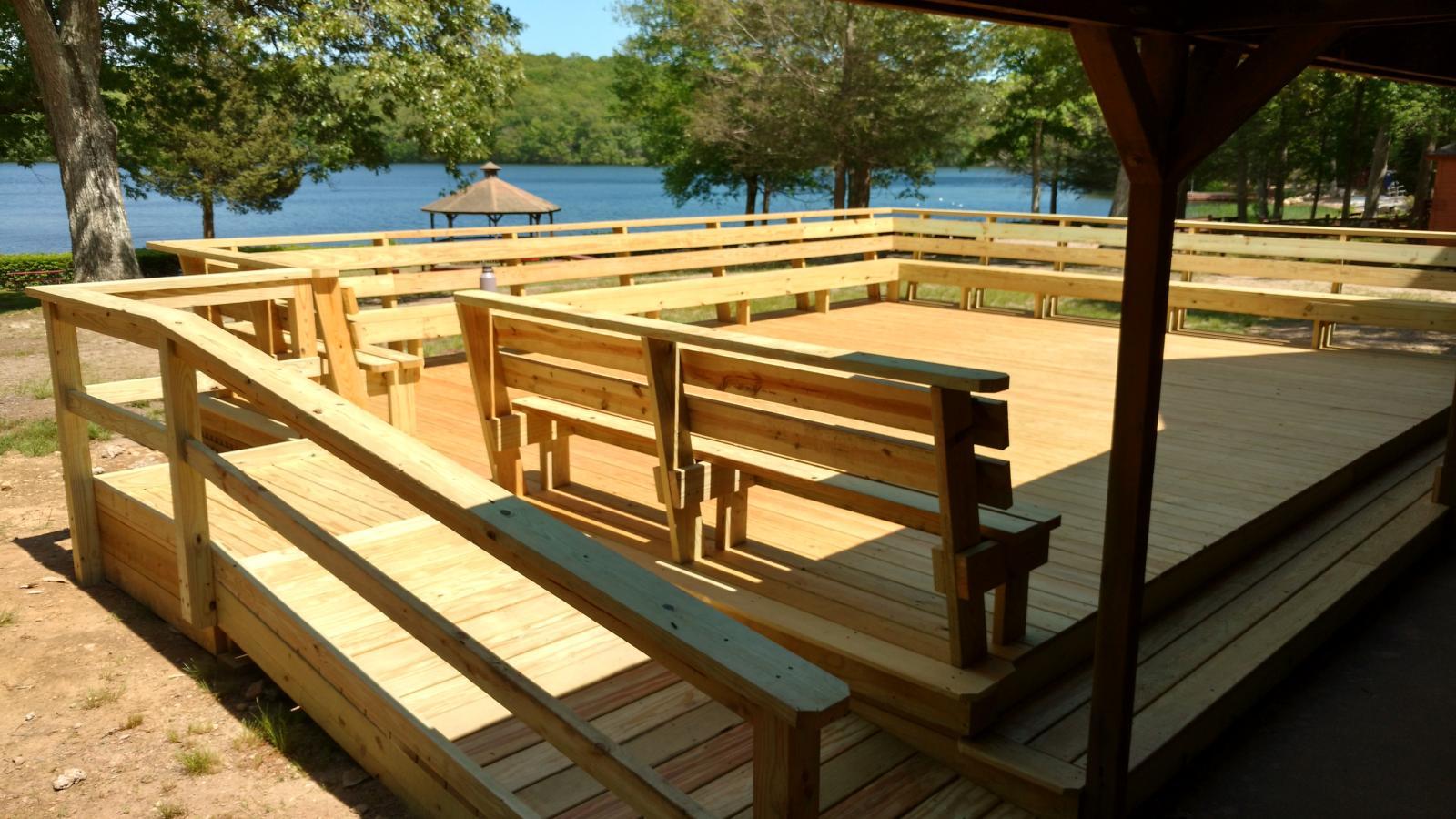 New deck on Pavilion June 2017